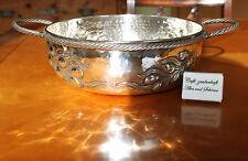 Schale Schüssel Obstkorb Messing versilbert G:1050g gehämmert gestanzt Art Deco