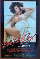 Let'S Talk Sex - Original Adult Movie Poster, Kitten Natividad, Bridgette Monet