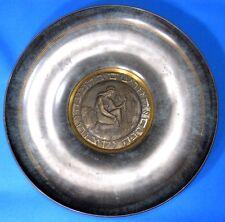 Vintage Maurice Ascalon Pal-Bell Israel Bronze/Brass Decorative Plate 1950s