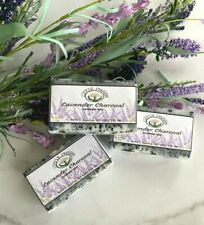 Lavender Charcoal Soap, All Natural Artisan exfoliating Handcrafted