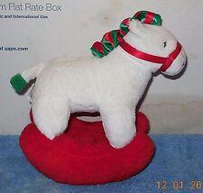 2006 Ty Pluffies Pretty Pony Christmas Rocking Horse Stuffed Animal Plush Toy