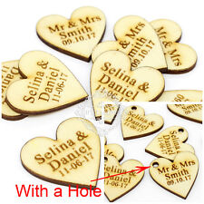 Personalized Wedding Wooden Hearts Party Table Centerpieces Décor Rustic Favours