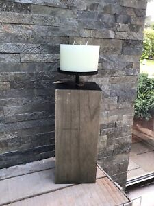Candle Holder Pillar Floor Standing  Contemporary With 3 Wick Candle