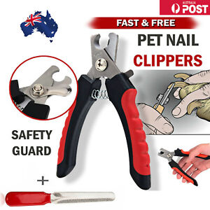 Pet Cat Groomin Scissor Toe Safety Guard Dog Nail Clippers and Trimmer with File