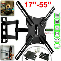 Tilt Swivel TV Wall Mount Bracket For 17 22 30 40 50 55 Inches Plasma LED LCD 3D
