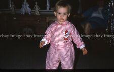 Cute Kid in Christmas Pajamas 1966 Vtg 35mm Slides Photo