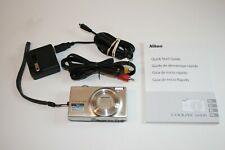 Nikon CoolPix S6100 16.0MP 7x Zoom Touchscreen Digital Camera Black Tested