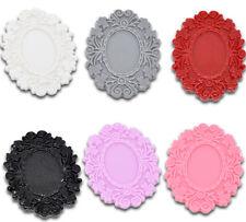 30PCS Mixed Resin Cameo Frame Settings Embellishment