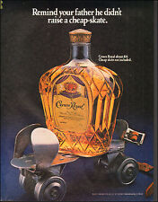 1983`Print Ad Crown Royal retro skate Photo leather strap (103115)