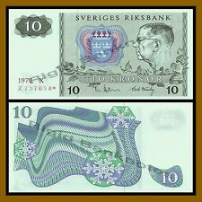 Sweden 10 Kronor, 1972 P-52 Replacement * Star Unc