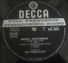 Decca SXL 6055 MOZART/ HAYDN Divertimentos Members Of The Vienna Octet LP EX