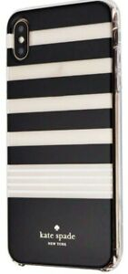 Kate Spade iPhone Xs / iPhone X Case Cover - Black White Clear Stripe USED