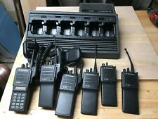 Lot of (6) Motorola HT/MT/MTS JEDI UHF 403-470 Mhz 2 Way Radios With charger