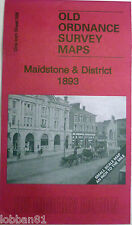OLD ORDNANCE SURVEY MAPS MAIDSTONE & DISTRICT & MAP HOLLINGBOURNE 1893 S288 New