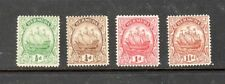 Bermuda Stamps 1928-1934 Caravel ship 4 different,mint hinged SCV $30.00