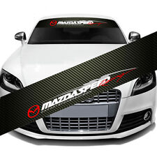 MAZDASPEED Windshield Carbon Fiber Vinyl Banner Decal Sticker For Mazda Speed
