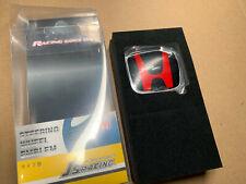 J's Racing Black Red steering wheel emblem sticker for Honda Civic Accord City