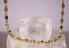 Multi-Stone Choker Necklace 14K Yellow Gold 16""