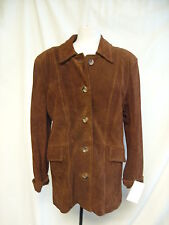 Ladies Coat -Woodlands, XL, Brown, Real Leather, BNWT -    2538