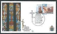 1999 VATICANO VIAGGI DEL PAPA POLONIA ZAMOSC - SV10