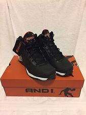 AND1 Mens' Playoff Basketball Shoe US Shoe Size 9.5 High-top Black Padded