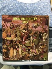 IRON BUTTERFLY Live LP Atlantic 1970 Pressing PSYCHEDELIC ROCK