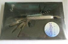 Couteau multi lames en métal argenté « Gadget Design » - 9 fonctions
