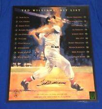 Ted Williams Autographed/Signed 16/20 Poster w/ Green Diamond COA 348/550 Boston