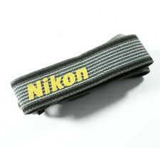 Nikon Original Woven Camera Neck Strap / Shoulder Strap - Grey & Yellow