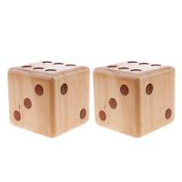 2 Stück 9cm D6 Holz Würfel für Brettspiel
