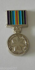 AUSTRALIAN ACTIVE SERVICE MEDAL 1945 - 1975 MEDAL PIN ENAMEL & NICKEL PLATED