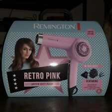 Remington Retro Pink Hair Dryer Gift Pack Limited Edition