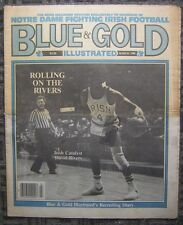 March, 1986 Blue & Gold Illustrated - Irish Catalyst David Rivers Cover