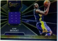 2018-19 Panini Select Swatches Kobe Bryant #SS-KB, Los Angeles Lakers