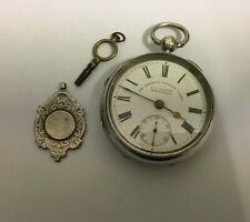 ANTIQUE SILVER CASED J.G.GRAVES EXPRESS ENGLISH LEVER POCKET WATCH .WORKING