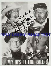 THE LONE RANGER CLAYTON MOORE SIGNED AUTOGRAPH 8x10 RP PHOTO IN HIS DISGUISES