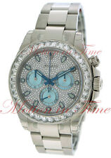 Rolex Cosmograph Daytona Platinum Diamond Bezel Diamond Ice Blue Dial 116576TBR