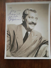 1930s - 1950s Comic Jerrry Colonna Hand Signed 8 x 10 Photo