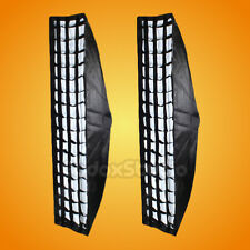 "2PCS Godox 35x160cm 14""x63"" Strip Beehive Honeycomb Grid Softbox w/ Bowens Mount"