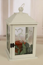 Country Style Heart Lantern Glass Windows Alfresco Home Decor BRAND NEW