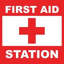 "First Aid Station Sign 8"" x  8"""