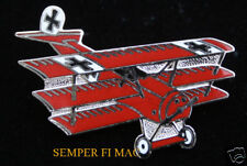 RED BARON FOKKER DR 1 GERMAN LUFTWAFFE HAT PIN up WW 1 WING BLUE MAX WING WOW