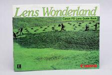 Original Canon FD Interchangeable Lenses Guide 1982