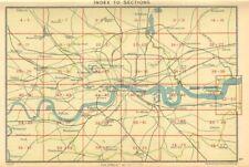 LONDON. Index map of London. Railways. BARTHOLOMEW 1930 old vintage chart