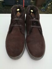 FRATELLI ROSSETTI Mens Suede Brown, Fleece Lined Lace-up Ankle Boots UK 8 (42).