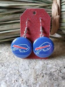 Buffalo Bills Earrings NFL Football Earrings Josh Allen Jim Kelly Bills Mafia