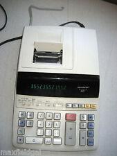 Used Sharp El-1197Pii desk calculator, 12 digit, 2-color, complete, w/warranty