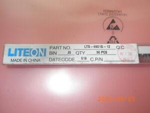 Posten Lot of 2614pcs LTS-4801G-12 LITEON 7-Segment-LED-Displays