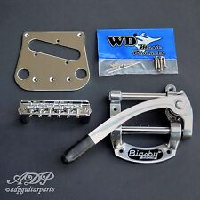 BIGSBY B50 Licensed + WD Conversion KIT: BRIDGE 6 SADDLES + Pickup PLATE CHROME