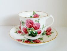 Hammersley Red Clover Cup & Saucer #4177 English Bone China Antique c 1905